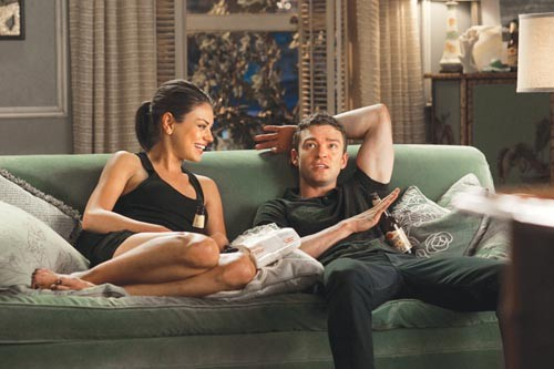 Just snuggly buddies: Mila Kunis and Justin Timberlake