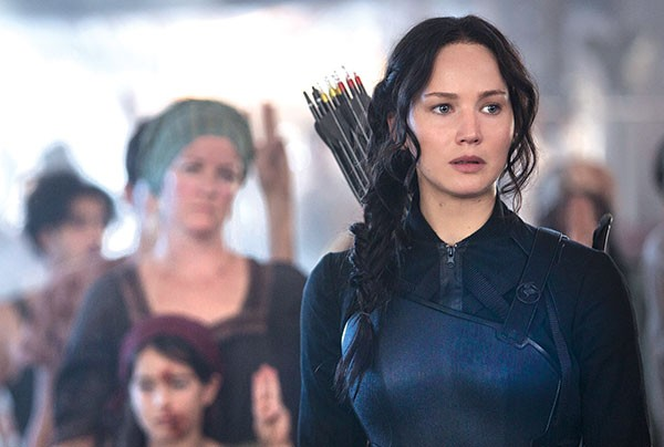 Katniss (Jennifer Lawrence) is a troubled soldier
