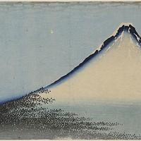 """Katsushika Hokusai,""""South Wind, Clear Dawn (<i>Gaifu kaisei</i>),"""" circa 1830-1831"""