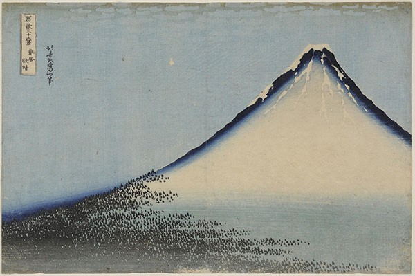 "Katsushika Hokusai, ""South Wind, Clear Dawn (Gaifu kaisei),"" circa 1830-1831"