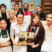 Keepin' it local: Legume owners Sarah and Trevett Hooper, bottom right, with staff