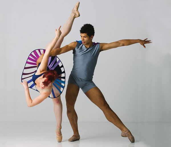 Kelsey Bartman and Alan Obuzor of Texture Contemporary Ballet Company.