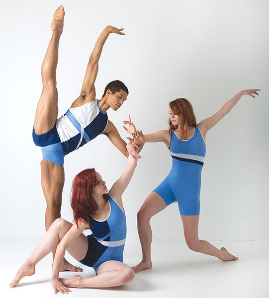 Kelsey Bartman (seated), Alan Obuzor and Brynn Vogel of Texture Contemporary Ballet