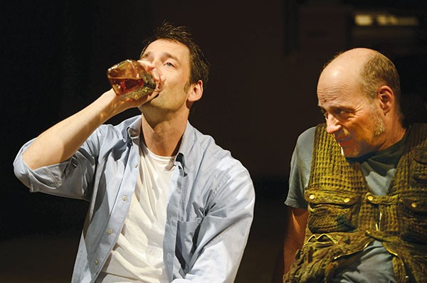 Ken Barnett (left) and David Mogentale in True West, at Pittsburgh Public Theater.