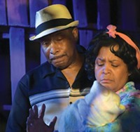 Kevin Brown and Sandra Dowe in Fences