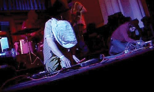 Krama chameleons: Centipede E'est performing earlier this year at FLUX in Braddock