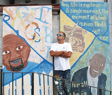 Kyle Holbrook is using art to clean up blight in the Hill District - PHOTO BY CHRIS YOUNG