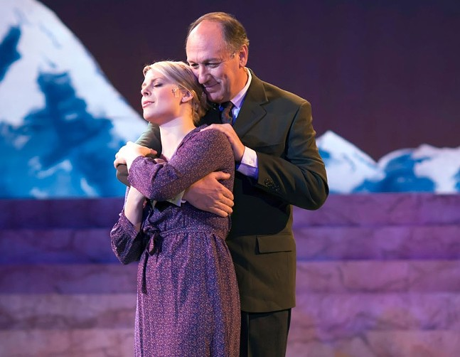 Lara Hayhurst and Jeff Howell in Pittsburgh Musical Theater's The Sound of Music.