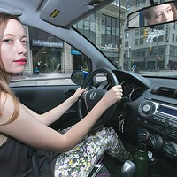 Laura Warman behind the wheel