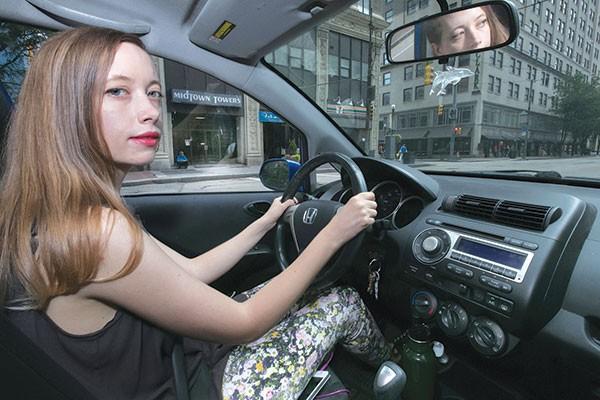 Laura Warman behind the wheel