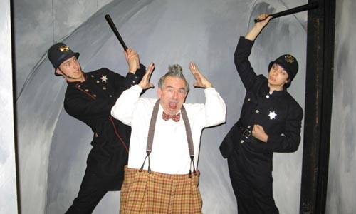 Law and disorder: Jeff Moulton (left), Gale McNeeley and Matt Russak in the University of Pittsburgh production of Scapin - F.J. HARTLAND