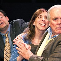 Left to right: Brian Edward Leach, Mary Liz Meyer and Dave James in Little Lake's <i>The Female of the Species</i>.