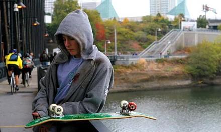 Life upside down: Gabe Nevins portrays lost skater Alex