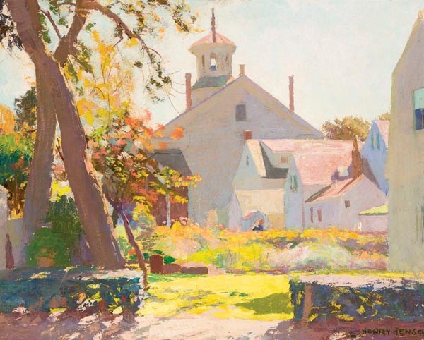 """Light that's """"seductive to painters in the modernist tradition"""": Untitled (Provincetown Scene), an undated painting by Henry Hensche (1901–1992) - IMAGE COURTESY OF THE PROVINCETOWN ART ASSOCIATION AND MUSEUM"""