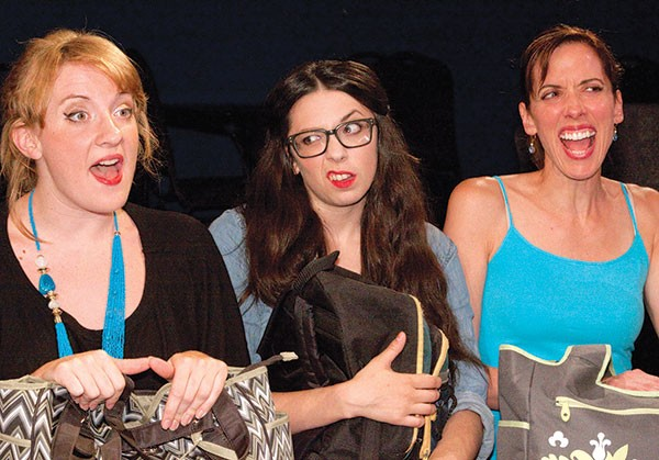 Lindsey Bowes, Amy Hoffmann and Mary Liz Meyer in Little Lake's Motherhood Out Loud.