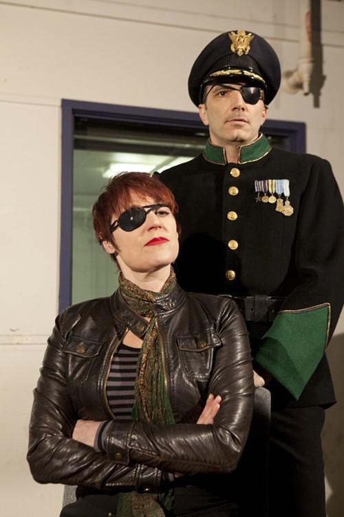Lisa Ann Goldsmith and Tony Bingham in Pantagleize