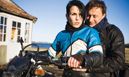 Lisbeth (Noomi Rapace) and Mikael (Michael Nyqvist) get their motor running.