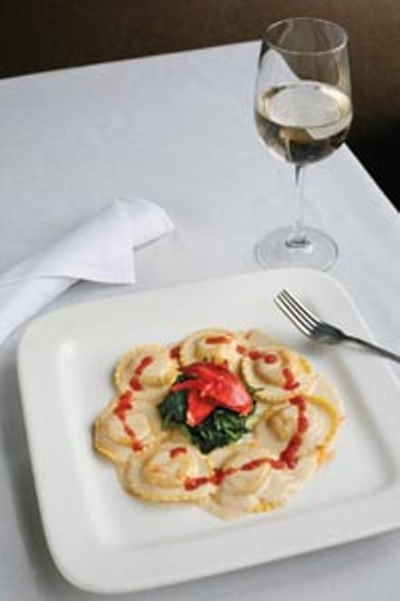 Lobster ravioli Florentine - HEATHER MULL