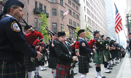 Local pipe bands conclude the Balmoral Classic with a Remembrance Day parade. - PHOTO BY HEATHER MULL