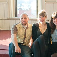 Lofty goals: organizers Brian Mendelssohn, Sarah Clarke and Stephanie Brunner