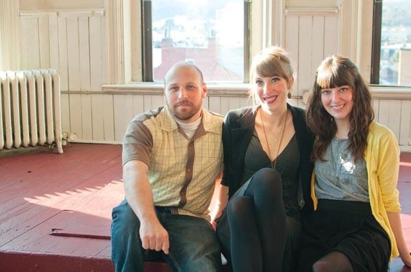 Lofty goals: organizers Brian Mendelssohn, Sarah Clarke and Stephanie Brunner