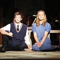 Logan Williams and Kate Queen in Pittsburgh Musical Theater's <i>Spring Awakening</i>.