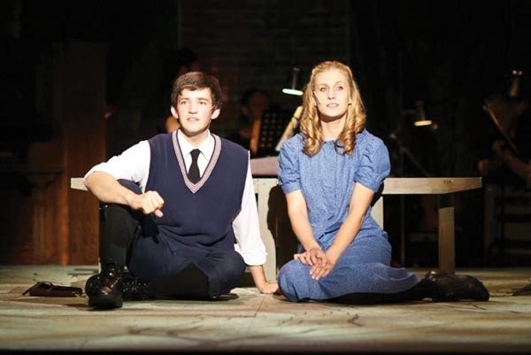 Logan Williams and Kate Queen in Pittsburgh Musical Theater's Spring Awakening.