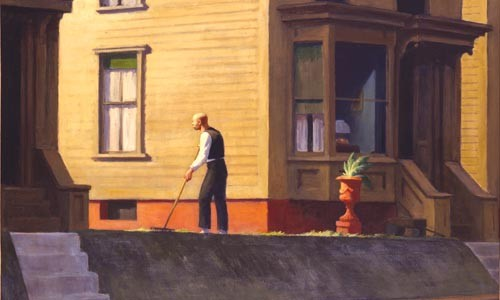 "Look into the light: Edward Hopper's ""Pennsylvania Coal Town"" (1947). - IMAGE COURTESY OF THE BUTLER INSTITUTE OF AMERICAN ART."