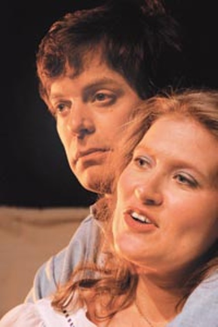 Lost worlds: Diana Ifft and Sam Turich in Open Stage Theatre's Lydie Breeze. - PHOTO COURTESY OF JEREMY ROLLA.