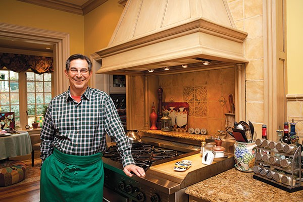 Lou Testoni readies his Shadyside kitchen for a holiday feast.