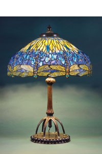 """Louis Comfort Tiffany's """"Lamp with Dragonfly Motif"""" (1900-1910)"""