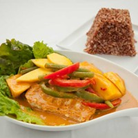 Sukhothai Bistro Love Salmon with mango curry sauce Photo by Heather Mull