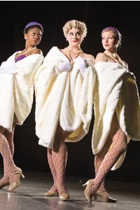 Luck, be a lady: Victoria Ward, Emily Rossell and Steffi Garard. Photo courtesy of Joshua Franzos