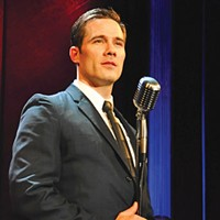 Luke Macfarlane in City Theatre's <i>Sam Bendrix at the Bon Soir</i>.