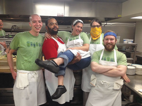 Lunch crew at Legume