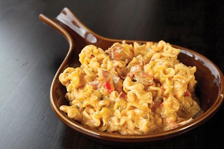 Macaroni with pimiento cheese and bacon - PHOTO BY HEATHER MULL