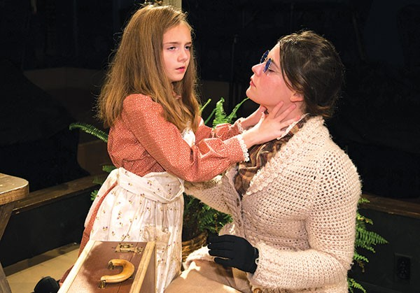 Madeline Dalesio and Abigail Lis Perlis in Little Lake's The Miracle Worker
