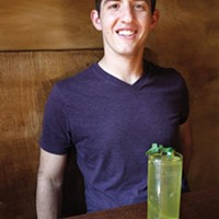 Manager Will Groves, pictured with the Vaguely Southwestern cocktail