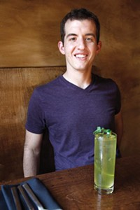 Manager Will Groves, pictured with the Vaguely Southwestern cocktail - PHOTO BY HEATHER MULL