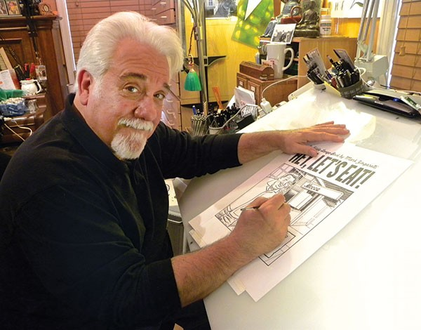 Mark Zingarelli in his studio