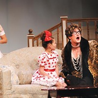 Marlana Dunn (left), Allison Joyce and Jonathan Visser in Pittsburgh CLO's <i>Ruthless! The Musical</i>