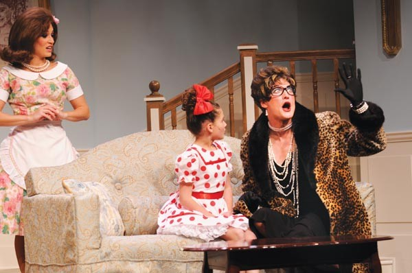 Marlana Dunn (left), Allison Joyce and Jonathan Visser in Pittsburgh CLO's Ruthless! The Musical