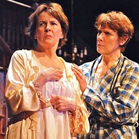 Mary Rawson (left) and Kathleen Turco-Lyon in the REP's <i>August: Osage County</i>