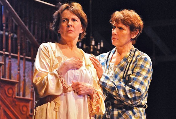 Mary Rawson (left) and Kathleen Turco-Lyon in the REP's August: Osage County