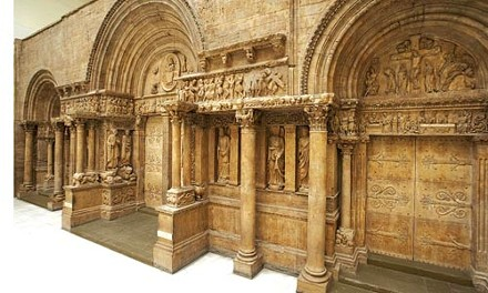 Mass appeal: Cast of the West Portal of the Abey Church of St. Gilles, Gard, France, in the Carnegie's Hall of Architecture. Photograph courtesy of Tom Little.