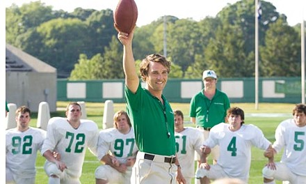 Matthew McConaughey puts Marshall's ball back in play.