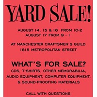 MCG Jazz news: yard sale and search for male jazz singer