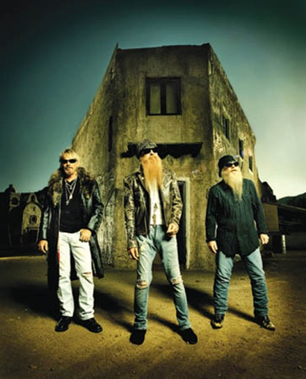 Men in beards: ZZ Top (Billy Gibbons, center)