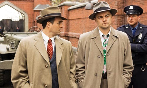 Men in funny coats: Mark Ruffalo and Leonardo DiCaprio