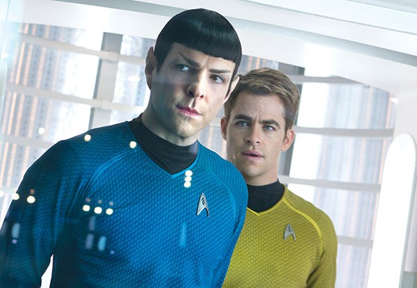 Men of action: Chris Pine and Zachary Quinto